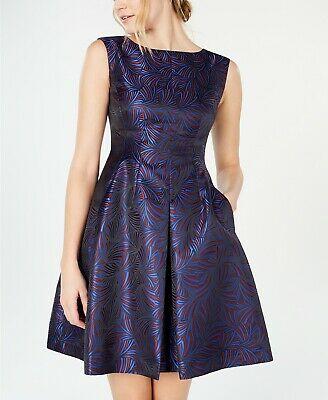 Anne-Klein-Jacquard-Fit-Flare-Dress-Windy