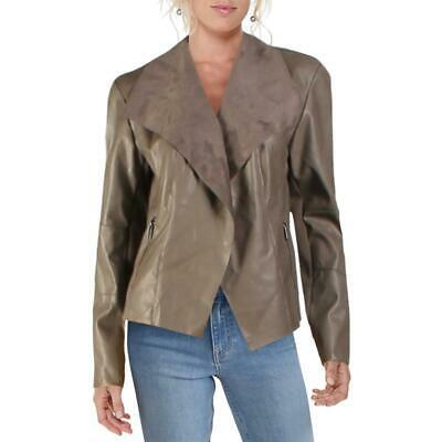 Bar-III-Womens-Gray-Faux-Leather-Flyaway-Lightweight