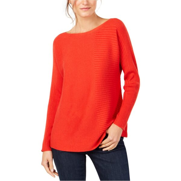 Eileen-Fisher-Womens-Mixed-Rib-Pullover-Sweater,-red,-PL