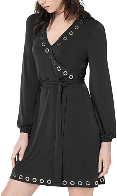 Screenshot_2021-02-18 Michael Kors Womens Grommet Detail A-line Dress, Blue, PS at Amazon Women's Clothing store(7)