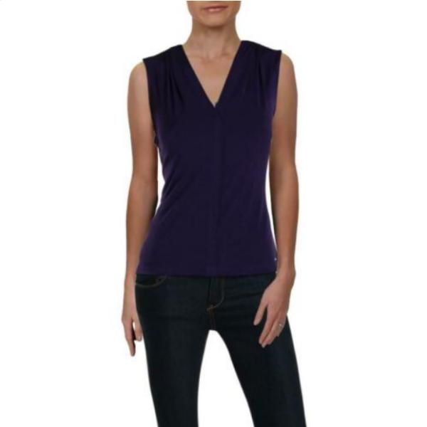 Screenshot_2021-02-28 Calvin Klein Womens Purple V-Neck Sleeveless Blouse Top Petites PM BHFO 0739 eBay