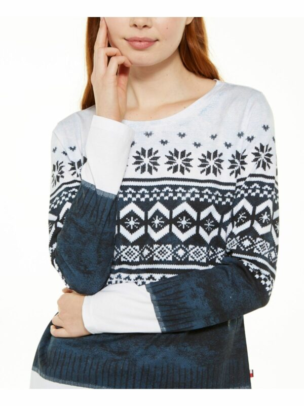 TOMMY-HILFIGER-Womens-Navy-Printed-Long-Sleeve-Collared-_57