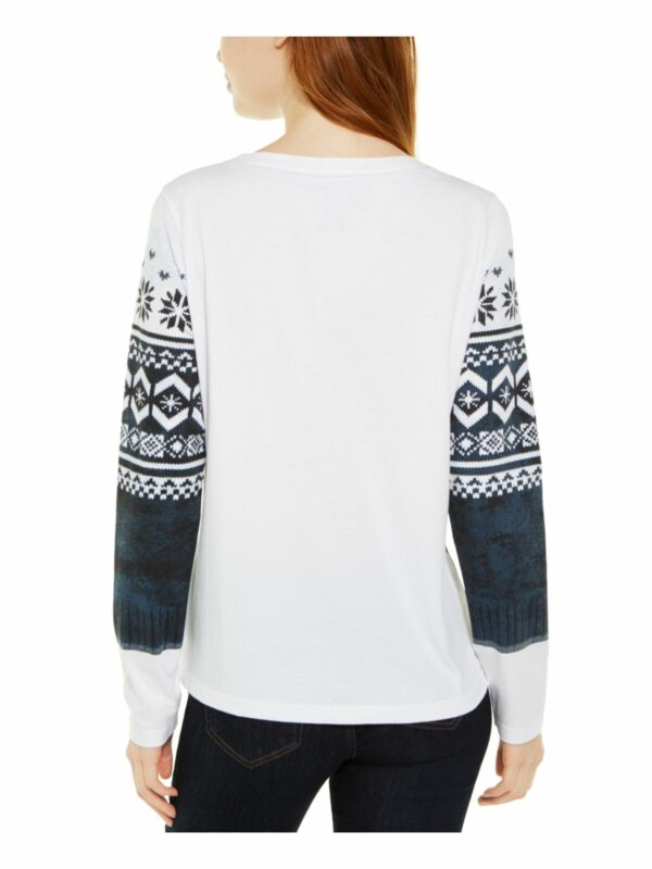 TOMMY-HILFIGER-Womens-White-Printed-Long-Sleeve-Collared-_57