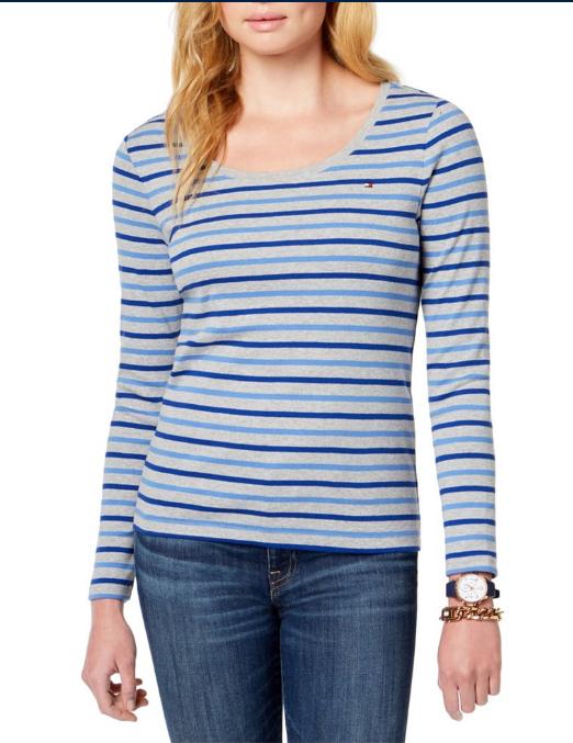 Screenshot_2021-03-05 Tommy Hilfiger – Tommy Hilfiger Womens Striped Basic T-Shirt – Walmart com