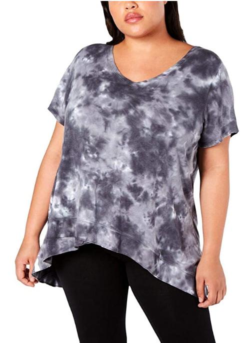 Screenshot_2021-03-20 Amazon com Calvin Klein Performance Womens Plus Tie-Dye V-Neck T-Shirt Gray 1X Clothing